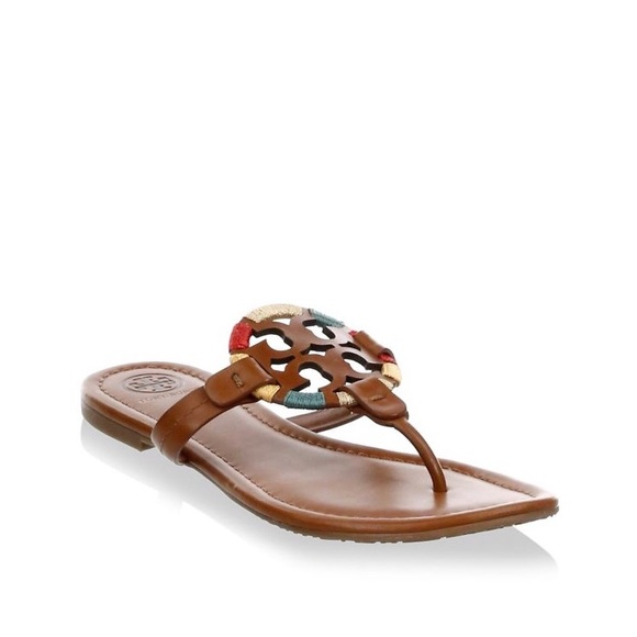 Tory Burch Miller Embroidered Sandals